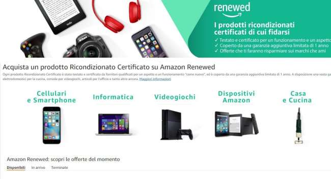 La novità di Amazon Renewed